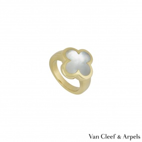 Van Cleef & Arpels Yellow Gold Pure Alhambra Ring VCARA35900